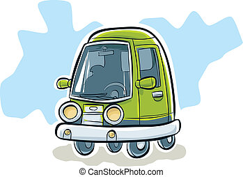 petite voiture, vert