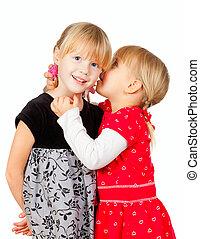 petites filles, top secret, partage