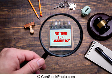 Petition for Bankruptcy. Crisis, state of emergency, tax ...
