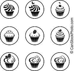 petits gâteaux, ensemble