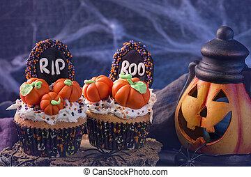 petits gâteaux, potirons