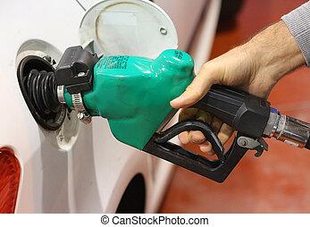 petróleo, bocal, gás