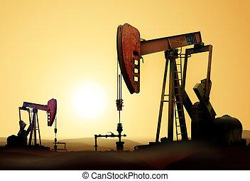 petróleo bombea