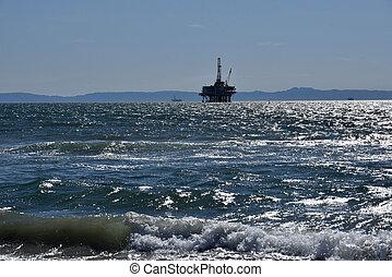 petróleo cercano costa, perforación