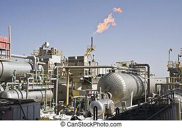 petróleo cercano costa, producción, instalación