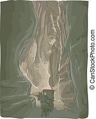 Petra Jordan - Illustration Featuring a Horse Carriage...