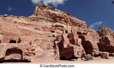 Petra, Jordan, Middle East -- it is a symbol of Jordan, as...