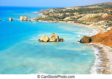Aphrodite\'s legendary birthplace in Paphos, Cyprus.