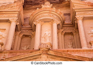 Petra Treasury - The Treasury monument in the old Nabataean...