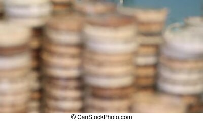 Petri dishes in medical laboratory - Stacks of Petri dishes...