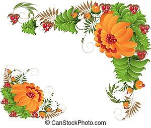 Petrikovsky ornament with flowers