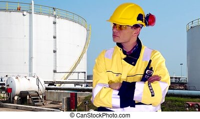 Petrochemical engineer - Person standing confident in front...