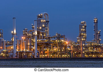 Petrochemical Industry - A petrochemical plant, with it\'s...