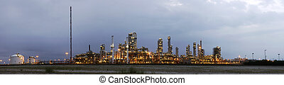 Petrochemical industry at dawn - A 22 stitched image...