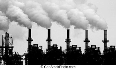 Petrochemical industry smoke stacks