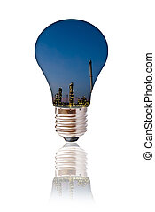 Petrochemical industry with bulb.