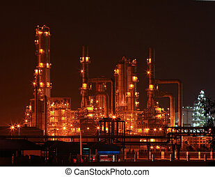 petrochemical oil refinery plant