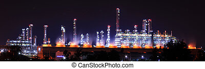 petrochemical oil refinery plant - Panoramic view...