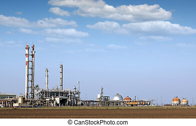 petrochemical plant and tanks industry zone