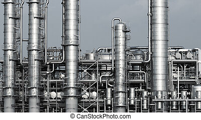 petrochemical plant - Pipelines of a oil and gas refinery...