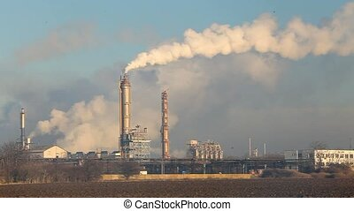 Petrochemical plant, time lapse