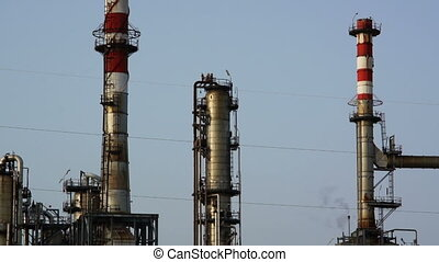 Petrochemical processing plant in the area of Falconara...