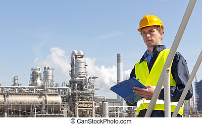 Petrochemical supervisor - Young supervisor with a note...