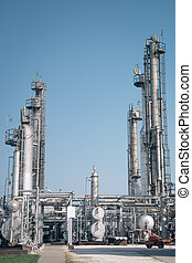 petrochemický, průmyslový nechat na holičkách