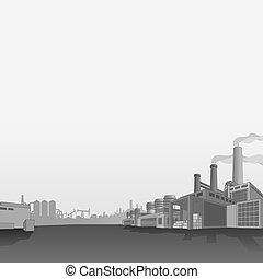 petrochemisch, gas, fabrik, oel, refinery.
