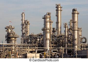petrochemisch, industrieanlage