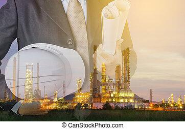 petrochemisch, industrieller besitz, concept.