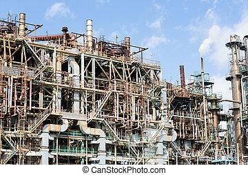 petrochemische stof, industrieel planten aan