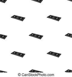 Petrodollars. Oil single icon in black style vector symbol stock illustration web.
