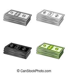 Petrodollars. Oil single icon in cartoon style vector symbol stock illustration web.