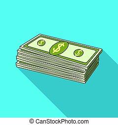 Petrodollars. Oil single icon in flat style vector symbol stock illustration web.