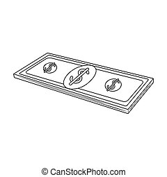 Petrodollars. Oil single icon in outline style vector symbol stock illustration web.