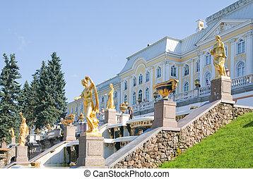 petrodvorets, peterhof, royal
