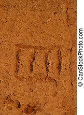 Petroglyph at Petroglyph Point - Lava Beds National Monument