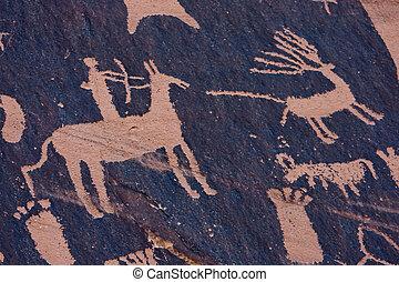 Petroglyphs at Newspaper Rock, Indian Creek, Utah
