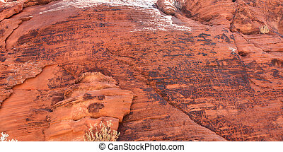 Petroglyphs at Valley of Fire Park