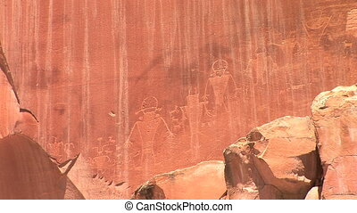 Petroglyphs by the Fremont People, Capitol Reef National...