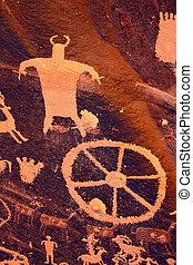 Petroglyphs on Newspaper Rock