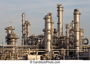 petrokemisk plant, industriel