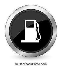 petrol black icon gas station sign