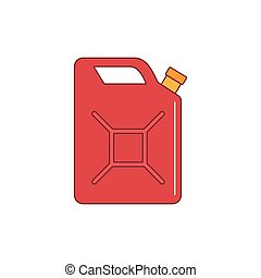 Petrol canister icon, cartoon style