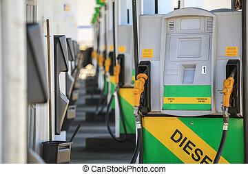 petrol, combustível, bocal, bomba, station.