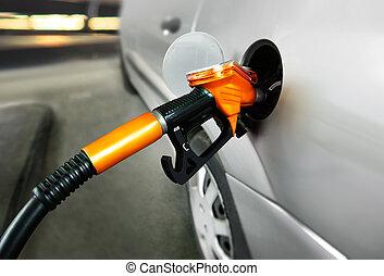 petrol filling station