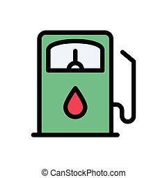 petrol  flat color icon