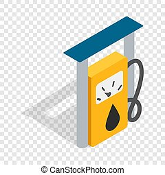 Petrol gas station isometric icon