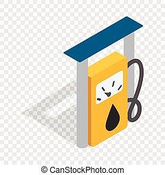 Petrol gas station isometric icon